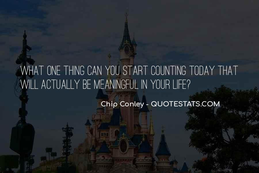 Quotes About Meaningful Life #275815