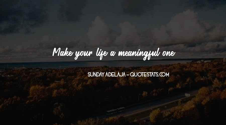 Quotes About Meaningful Life #38129