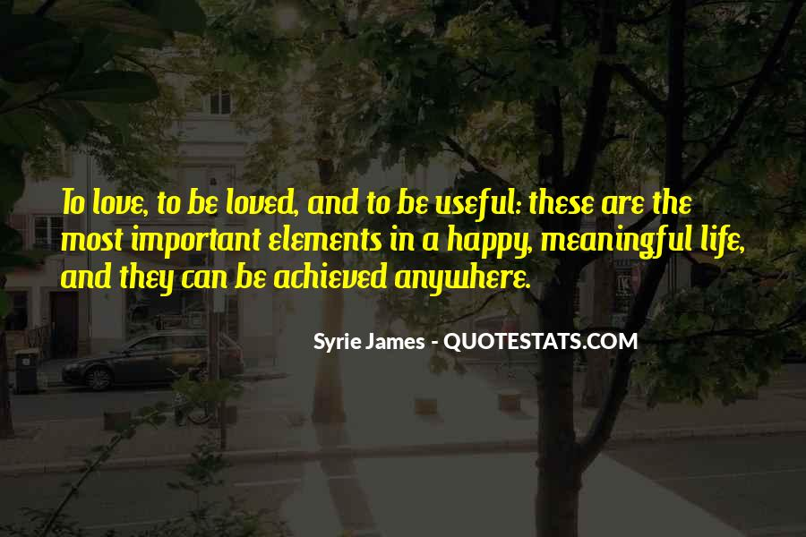 Quotes About Meaningful Life #54136