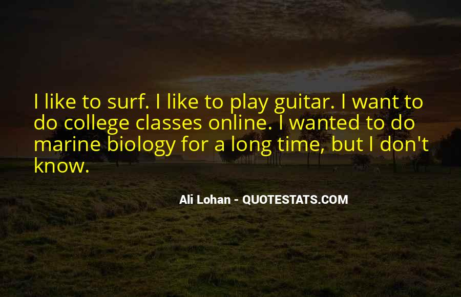 Quotes About Marine Biology #518379
