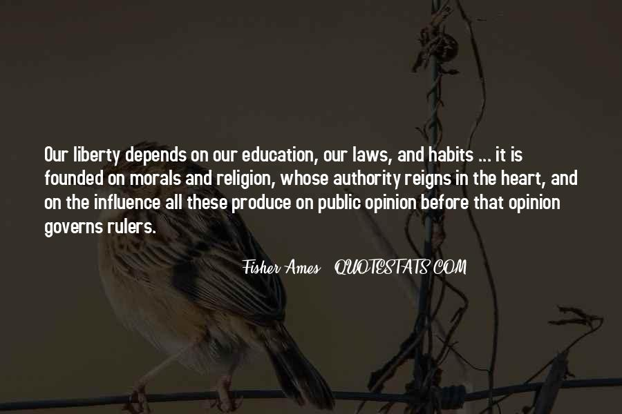 Quotes About Morals And Education #1208052