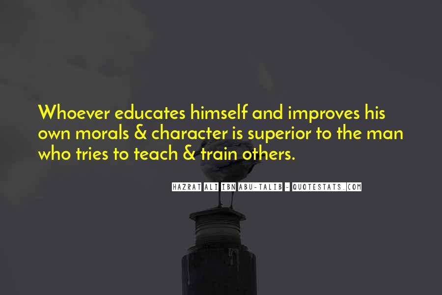 Quotes About Morals And Education #1231723