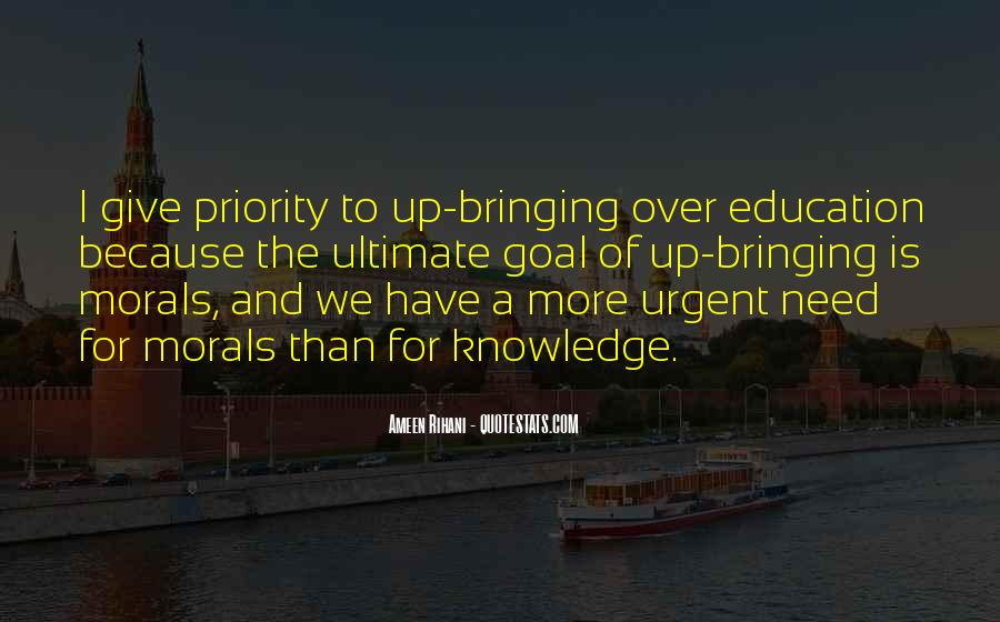 Quotes About Morals And Education #1515457