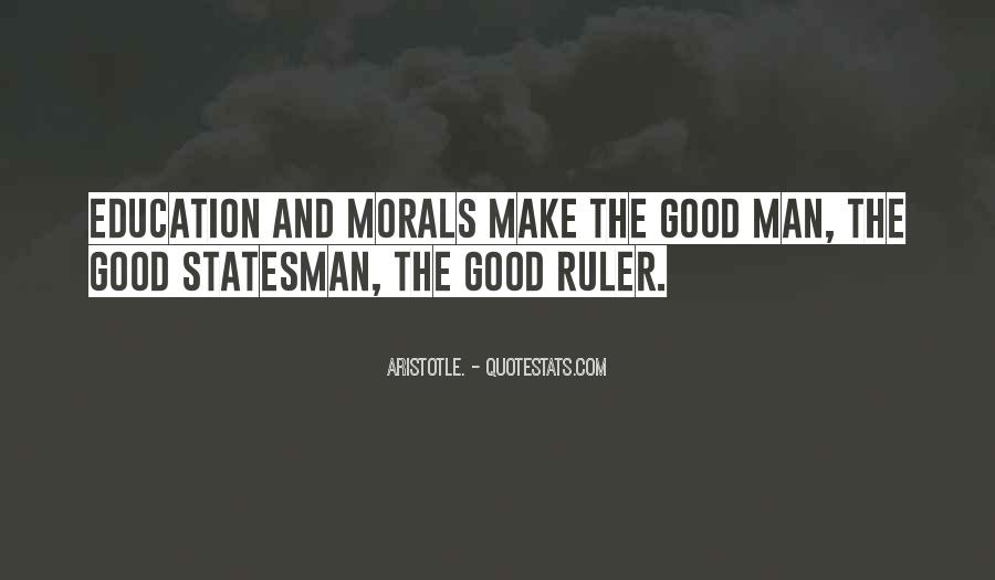 Quotes About Morals And Education #162874