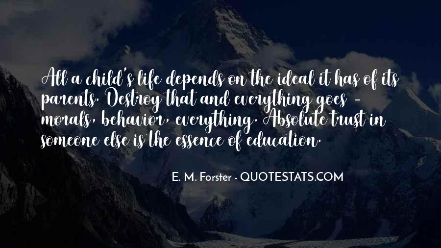 Quotes About Morals And Education #1713682