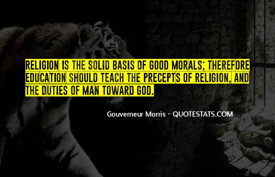 Quotes About Morals And Education #414847