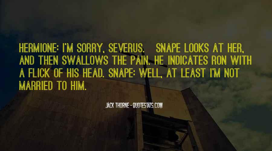 Severus's Quotes #1318989
