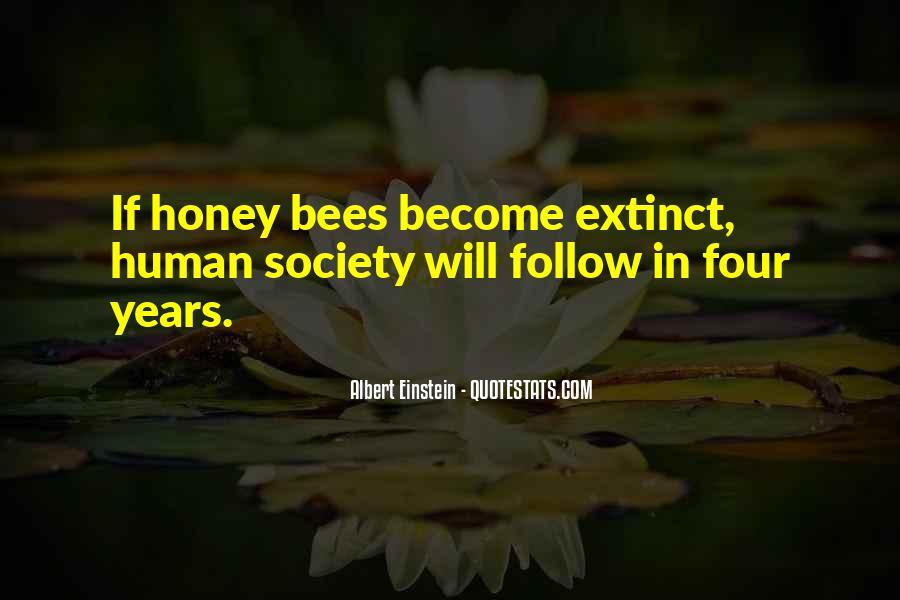Quotes About Honey Bees Einstein #335269