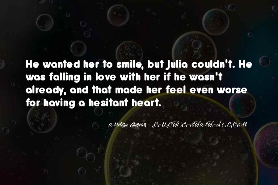Quotes About Falling In Love With Her Smile #1001487