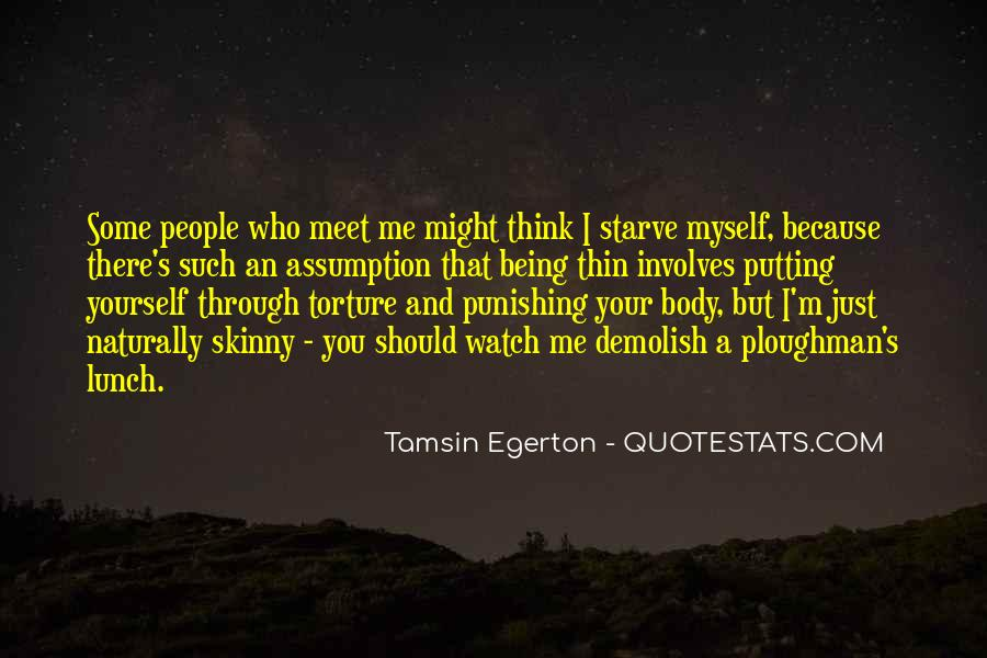 Quotes About Skinny People #769411