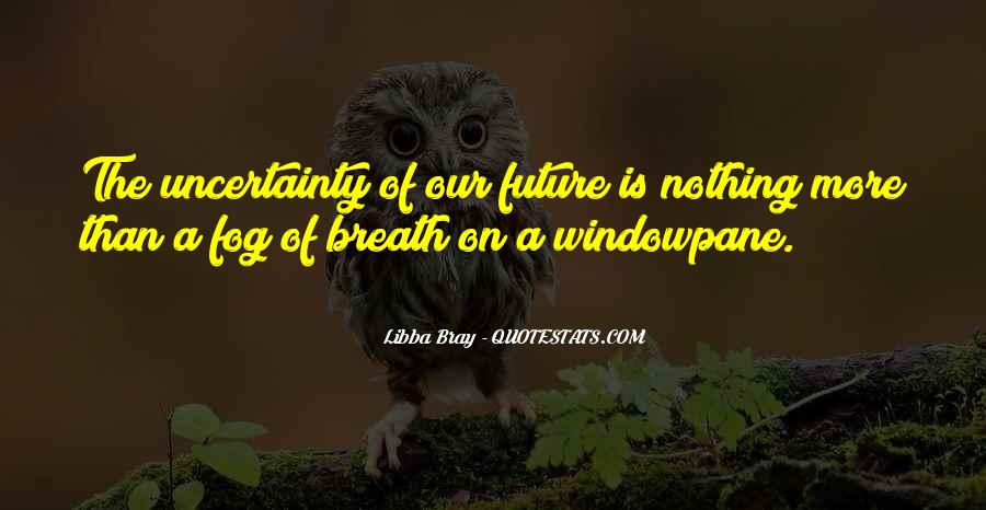 Quotes About The Uncertainty Of The Future #996909