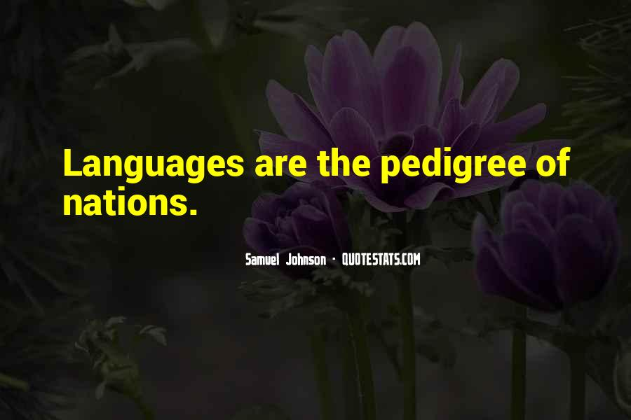 Quotes About Pedigree #238690