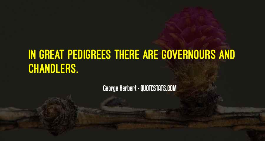 Quotes About Pedigree #419346