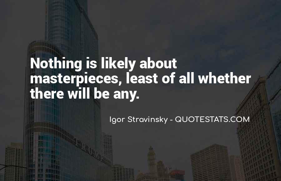 Stravinsky's Quotes #183729