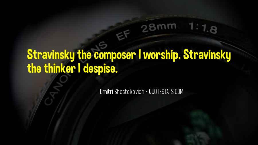 Stravinsky's Quotes #238154