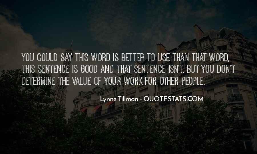 Tillman's Quotes #1101229