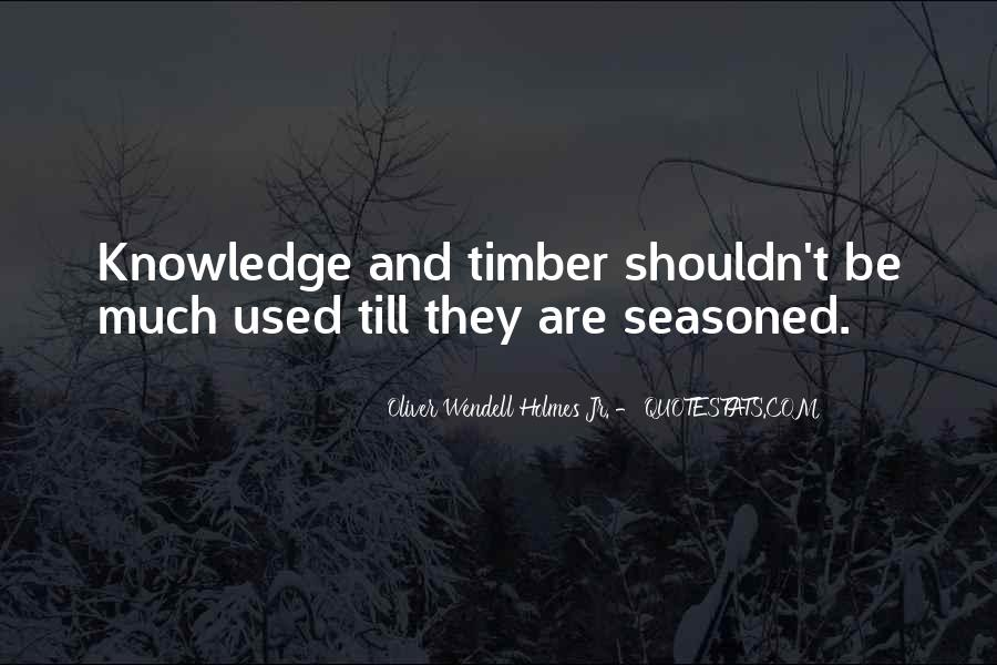 Timber'd Quotes #536247
