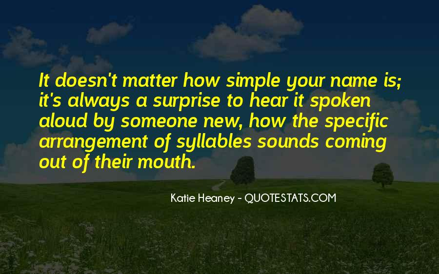 Quotes About Someone's Name #1308065