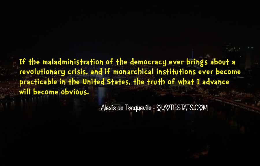 Tocqueville's Quotes #166981