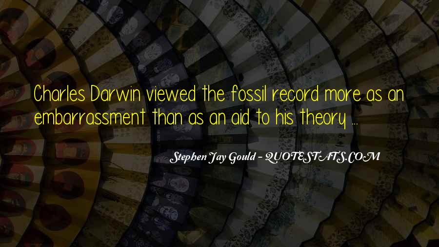 Quotes About The Fossil Record #424380