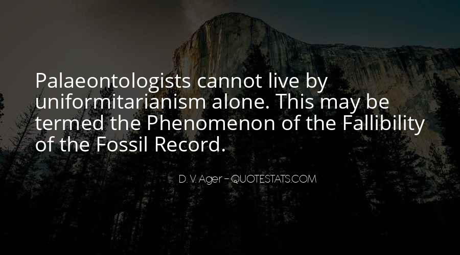Quotes About The Fossil Record #439485