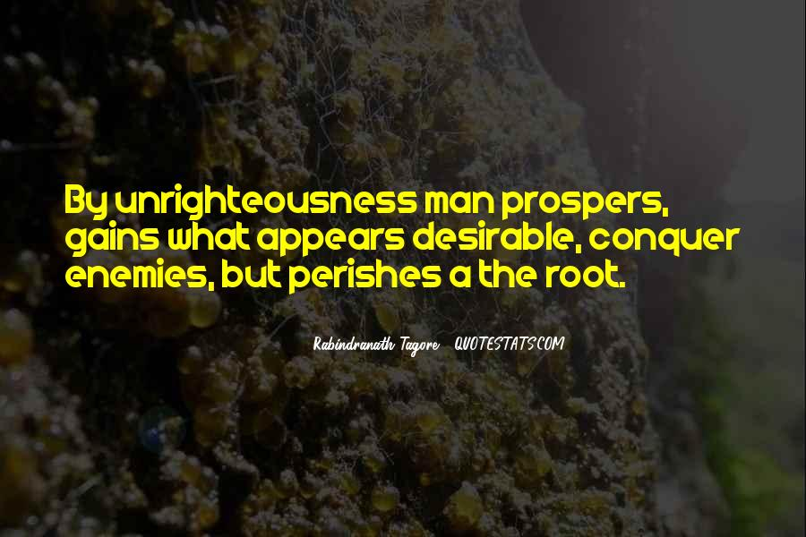 Unrighteousness Quotes #1649694