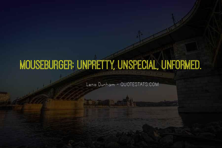 Unspecial Quotes #593305