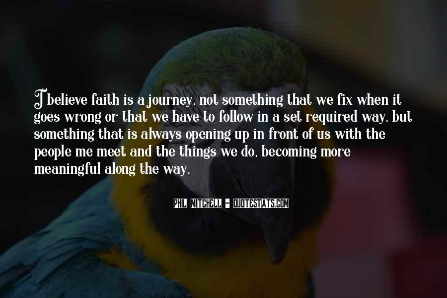 Quotes About Journey And Faith #1140