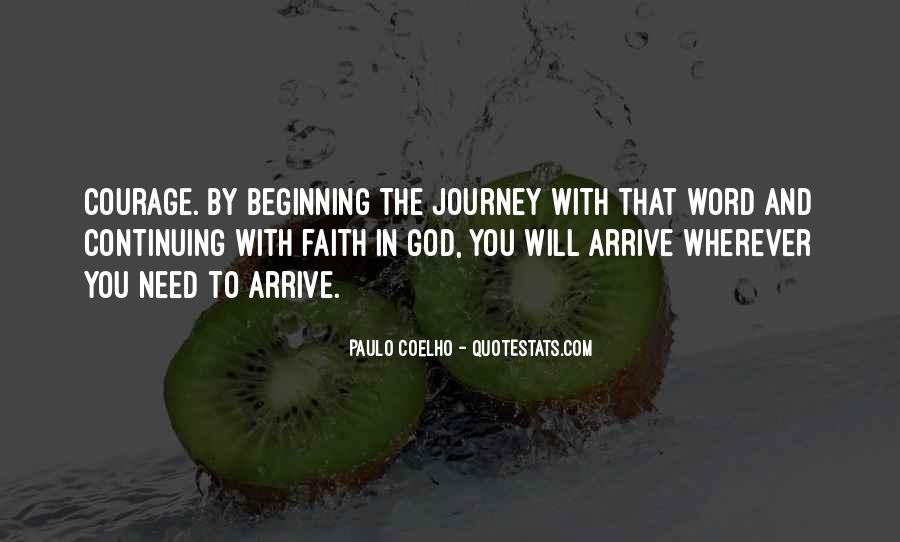 Quotes About Journey And Faith #1642838