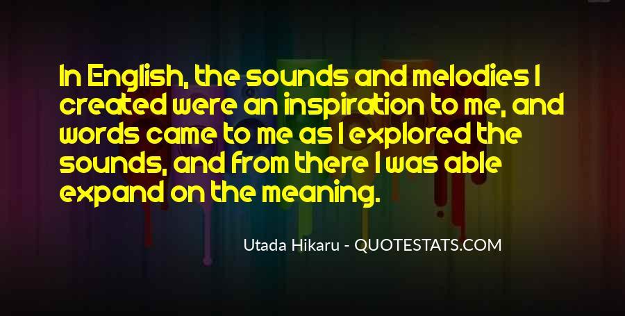Utada Quotes #1118739