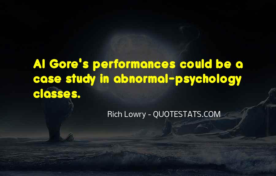 Quotes About Abnormal Psychology #109992