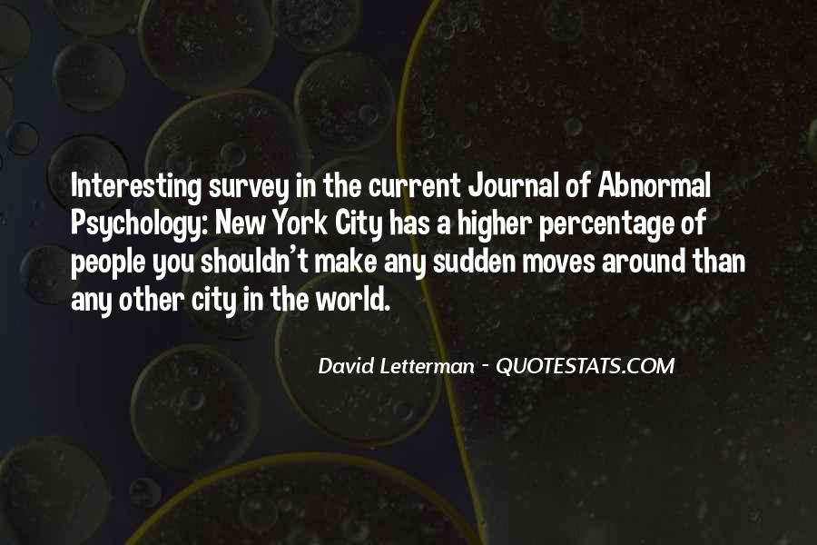 Quotes About Abnormal Psychology #1468325