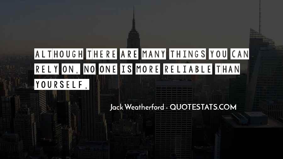 Weatherford Quotes #1641359