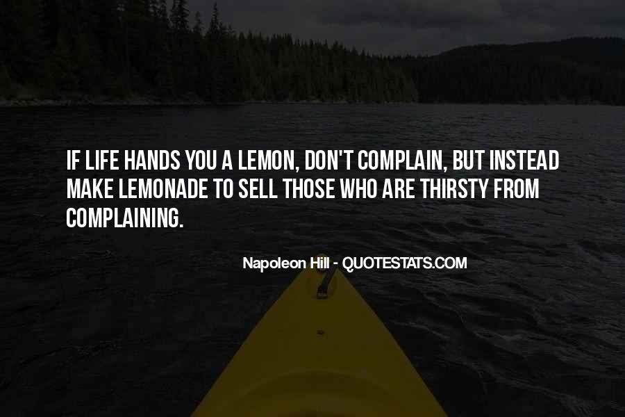 Quotes About Lemonade #1172610