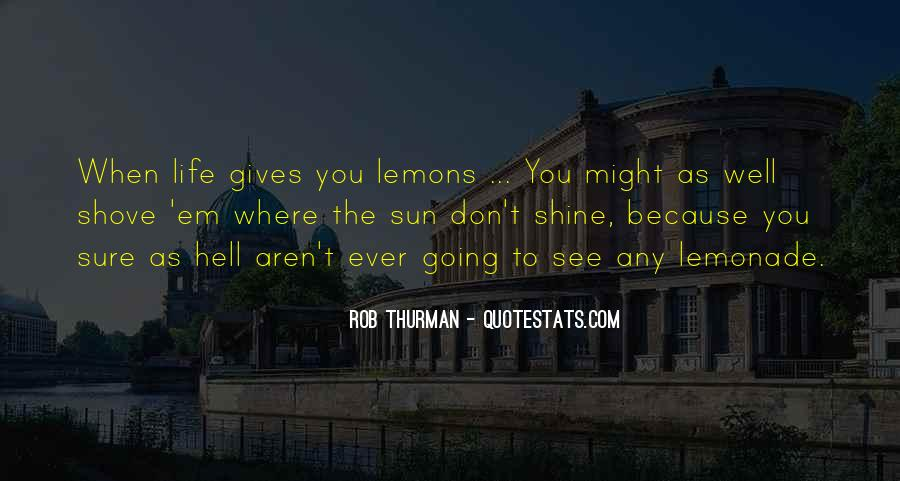 Quotes About Lemonade #1199037