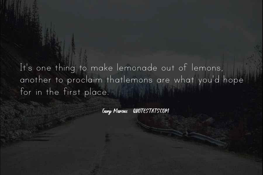Quotes About Lemonade #1433314