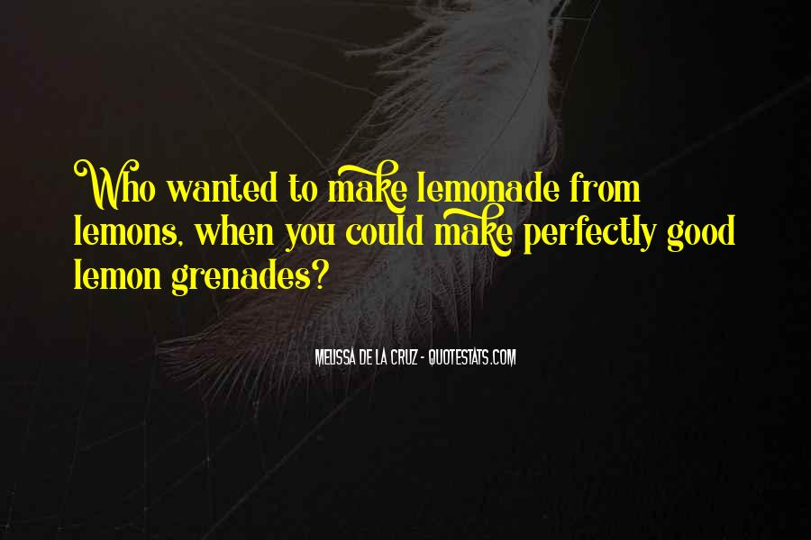 Quotes About Lemonade #1489521