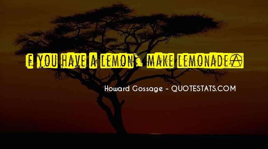 Quotes About Lemonade #480379