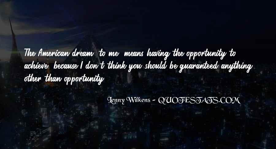 Wilkens Quotes