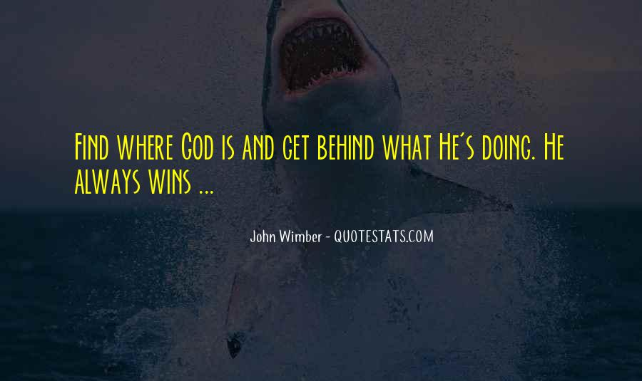 Wimber's Quotes #1751593