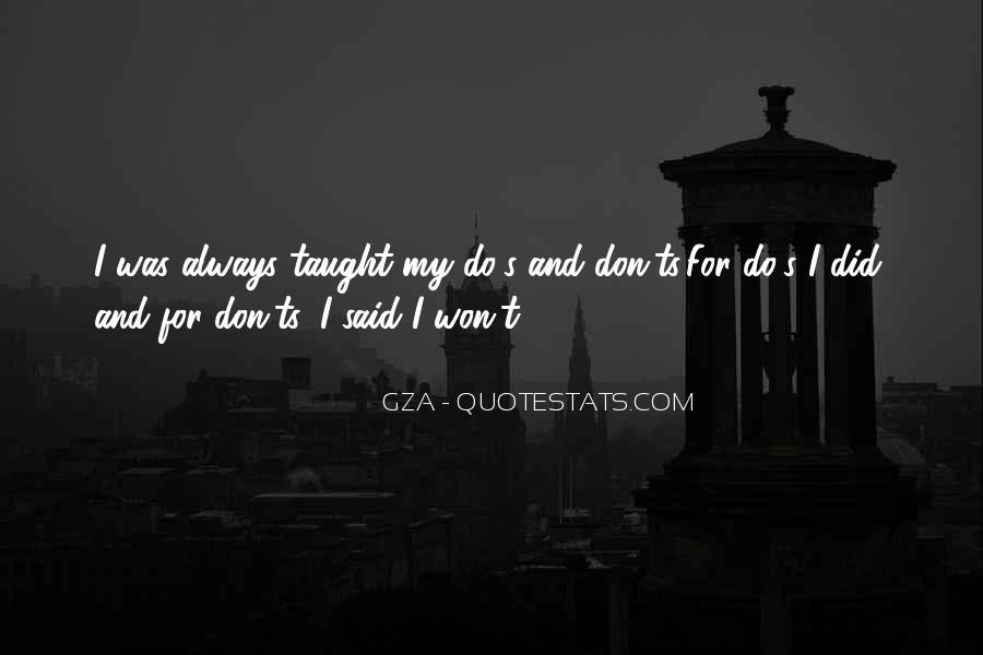 Won'ts Quotes #1267286