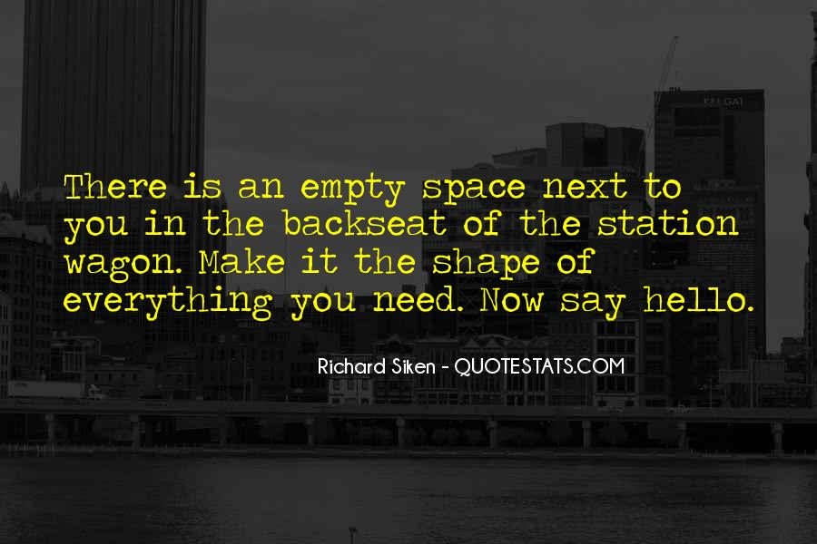 Quotes About Space And Friendship #1216766