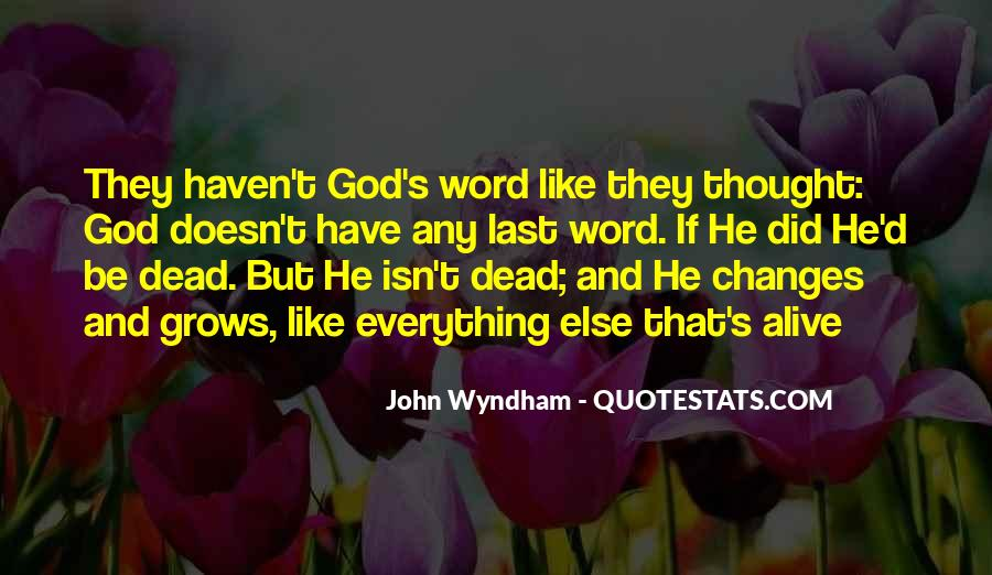 Wyndham's Quotes #381793