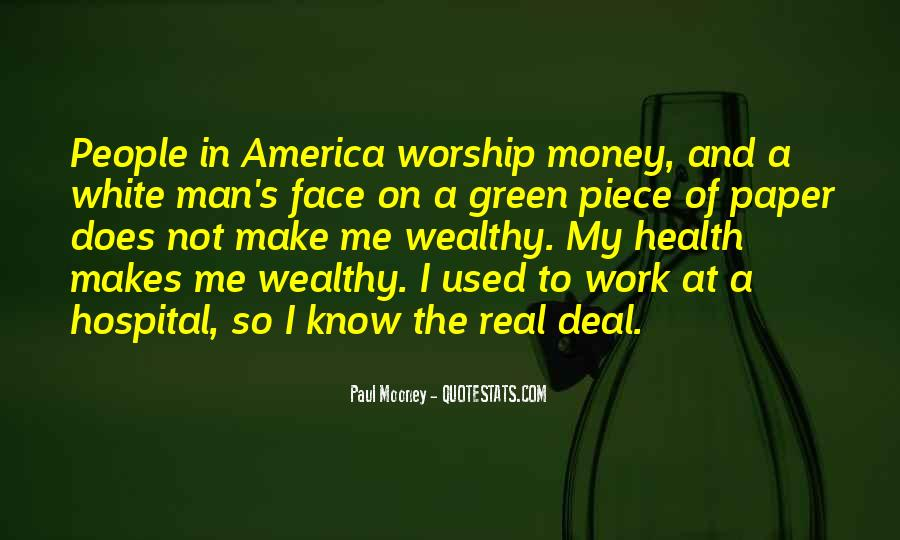 Quotes About Green Money #762464