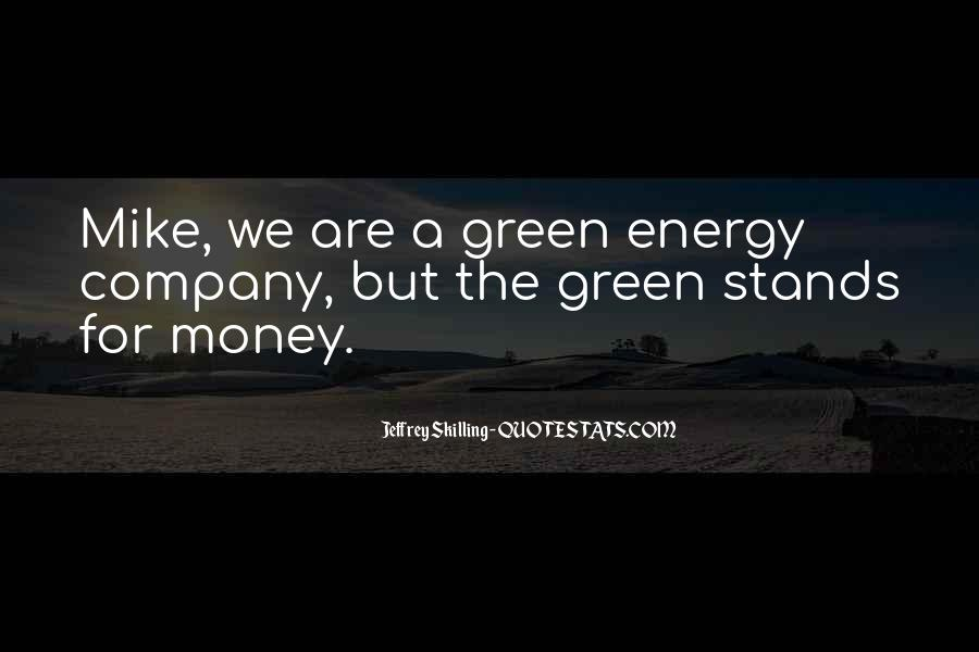 Quotes About Green Money #908495