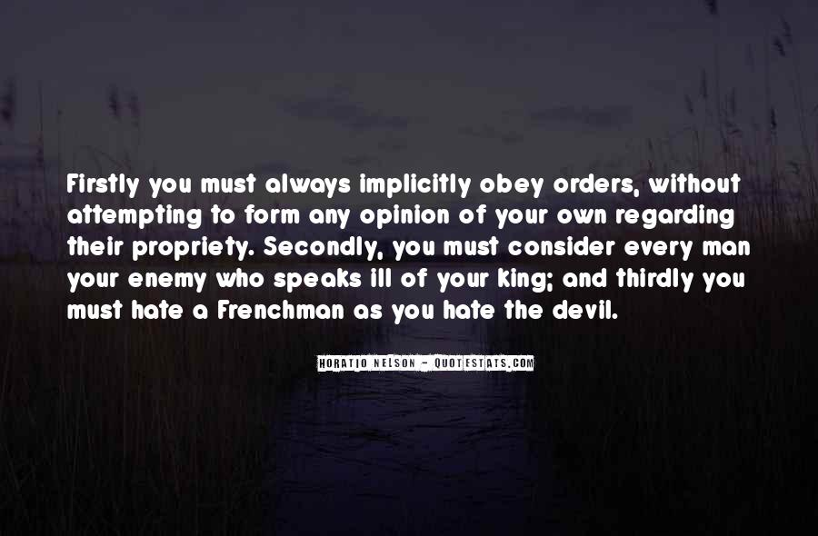 Quotes About Orders #165105