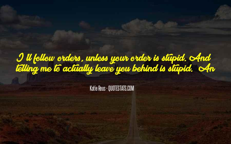Quotes About Orders #191520