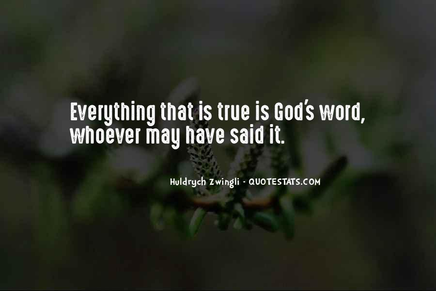 Zwingli's Quotes #734594