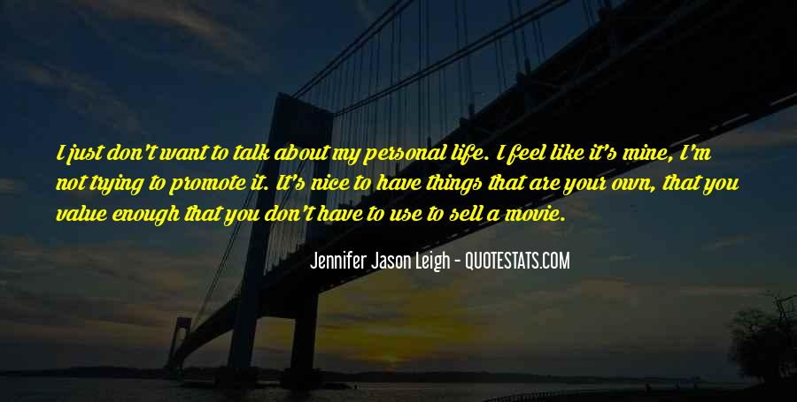 Sayings About Personal Value #1045464