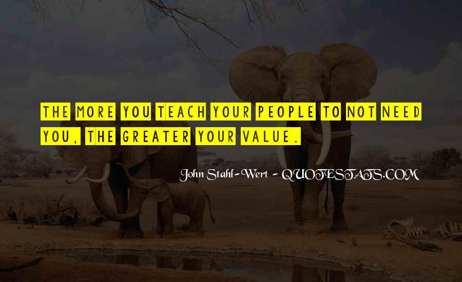 Sayings About Personal Value #1476976